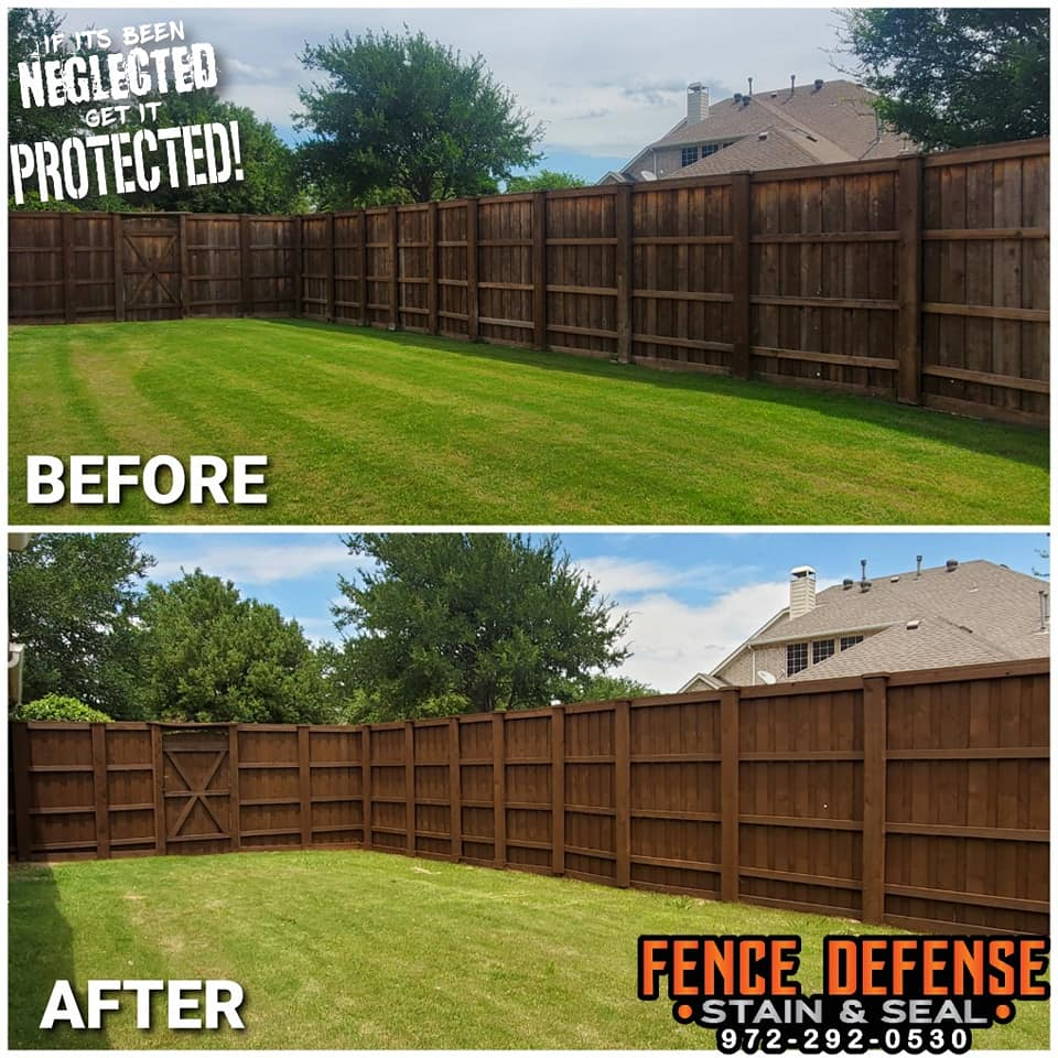 Fence Staining Company Before and After Pictures