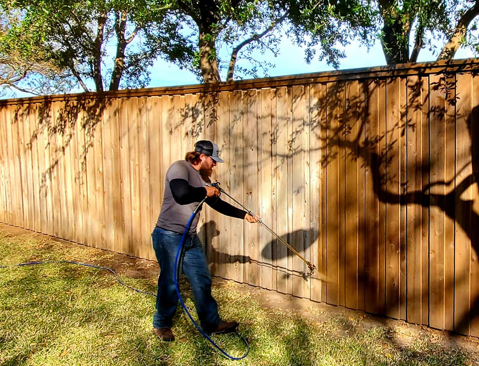 Professional Fence Staining